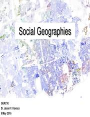1_Social Geographies