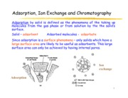 Adsorption (Topic 5)