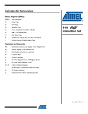 Atmel Assembly Language Instruction Set