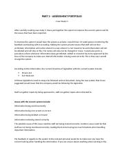 PART 2  ASSESSMENT PORTFOLIO Case Study 2.docx