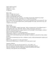 FIS 206 Lecture Study Guide for Exam 1