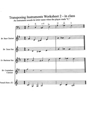 Transposing Worksheet