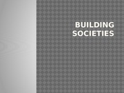 BUILDING SOCIETIES MONEY AND BANKING PRESENTATIONS ON BUILDING SOCIETIES