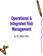 Ch10 Operational Risk.ppt