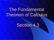 4.3 Fundamental Theorem of Calculus
