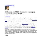 12 Examples of B2B Companies Managing Impactful Twitter Profiles