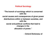 Political Soc 1 - Power, Society and Social Science