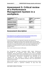 BSBMGT502B Manage People performance Assessment Task5