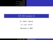 ICS253_Lecture_11