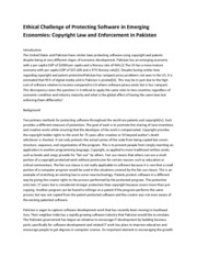 Copyright Law and Enforcement  (Assignment)