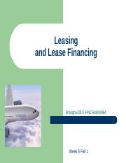 Leasing FINC5880 MBA 2017.ppt
