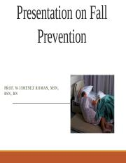 PRESENTATION FALL PREVENTION (PATIENT).pptx