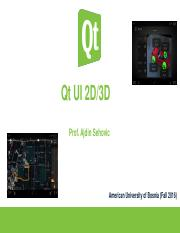 Qt UI 2D and 3D Options - Qt UI 2D/3D Prof Ajdin Sehovic American