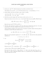 MATH 226 Fall 2014 Sample Midterm 1 Solutions