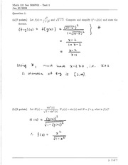 Math 121 Test 1 Solutions