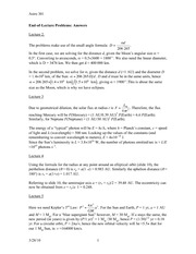 Lecture 1-9 (2, 3, 4, 5, 6 7, 8) Problem Solutions (Ansewrs)