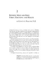 Stress, Emotions, and Health
