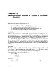 Newton-Raphson Method notes