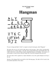Contest Rules F11 - Hangman