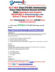[2017-Aug]Braindump2go New 210-065 Dumps VCE and 210-065 Dumps PDF 285q Free Share(Q113-Q126).pdf