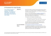 IAASB 2013 Framework for Audit Quality at a Glance