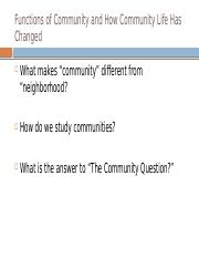 Lecture 3 Functions Served by Communities and How Community Life Changed (1).pptx