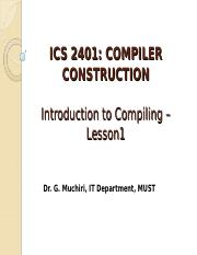 ICS2401_CC_Lesson1_Introduction to Compiling.ppt