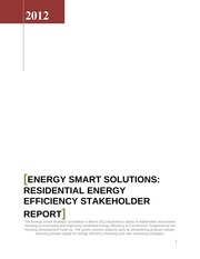 Energy Smart Solutions Draft Recommendations 1024