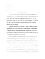 Creative Writing Story my bright and shining armour