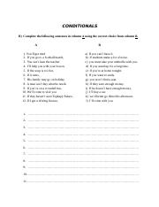 worksheet 23 (conditionals)