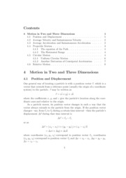 lecture-ch4 Motion in Two and Three Dimensions
