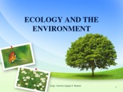 3. ECOLOGY AND ECOSYSTEM