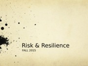 Lecture 2- Risk Resilience PPT.pptx