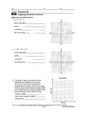 2 pages graphing functions worksheet - Graphing Quadratic Functions Worksheet