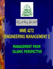 3 2014 MANAGEMENT FROM ISLAMIC PERSPECTIVE.ppt