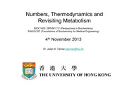6. Thermodynamics and Metabolism
