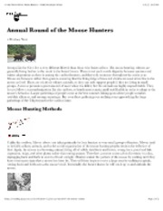 Annual Round of the Moose Hunters � North American Indians