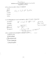 Fall 2012 - Exam 2 Solutions (Ch 16/17/19)