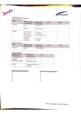 movement assessment form
