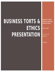 Team A_W2_Business Torts & Ethics Presentation