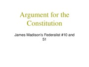 Argument for the Constitution