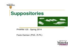 PHARM 125_Suppositories_S2014