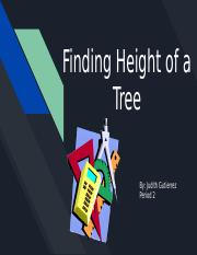 Finding height of a tree.pptx