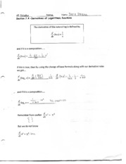 derivatives of logs notes