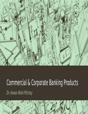 Commercial & Corporate Banking Products