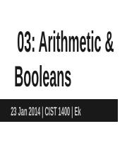03_ Class notes on Arithmetic, Booleans, and Relational_Equality Operators.pptx