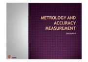lecture 4 -metrology and accuracy measurement