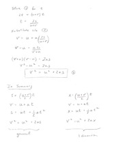 Kinematic Derivation Notes