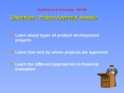 Project Approval Slides