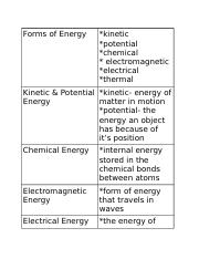 Copy of Energy & Matter